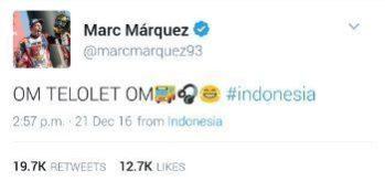 """Demam """"Om Telolet Om"""" serang Marc Marquez 1"""