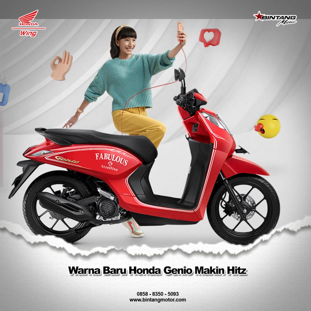Warna Baru Honda Genio Makin Hitz
